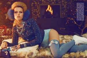 The Vogue Gioiello December 2010 Spread Showcases Luxe Winter Garments