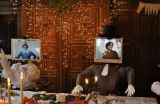 Virtual Family Feasts - The Virtual Holiday Dinner Uses Skype to Connect With Loved Ones