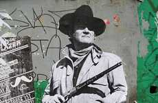 John Wayne's 'True Grit' Street Art Decks the Streets of London