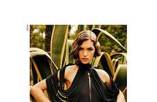 Cut-Out Shoulder Fashion - The YSL Spring Campaign Stars Arizona Muse