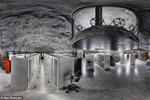 Pionen Data Center's James Bond-esque Subterranean Cave Houses Wikileaks Bunker
