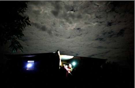 Solar Energy Lights African Huts