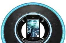 Glowing Disk Holders - Embrace the Tron Craze with This Tron Legacy iPod Dock