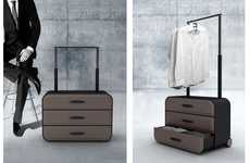 Cabinet-Inspired Luggage - The Traveler's Closet Brings a Little Bit of Home While on the Road