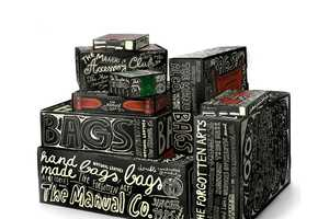 Doodle-Covered Cardboard Boxes by Peter Gregson