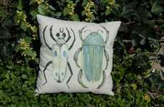 Eco-Conscious Bug Cushions - 'Biology Major' Makes Hand-Painted Nature Inspired Pillows