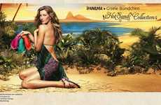 Sunny Supermodel Ads - The Gisele Bundchen Ipanema Hot Sands Collection Campaign