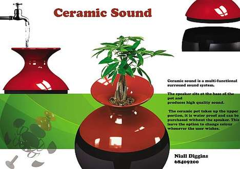 Potted Plant Speakers - The Ceramic Sound System by Niall Diggins is Multifunctional