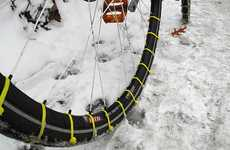 DIY Snow Tires - The Zip Tie Snow Tires Make Biking in Winter a Cinch