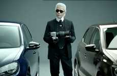 Stylish Auto Ads - The Karl Lagerfeld Volkswagen Commercial Combines Elegance and Grace