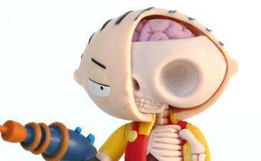Anatomical Evil Baby Art - The Jason Freeny Stewie Pieces is the Artist's Newest Creation