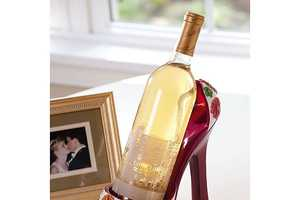 The GiftedGrape Stiletto Wine Holder is a Feminine Find