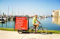 Bicycle-Driven Billboards - 'I Pedal Ads' are Eco-Friendly Promotion Deliveries