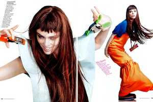 Coco Rocha is All Energy for Alexei Hay in Elle Italia January 2011
