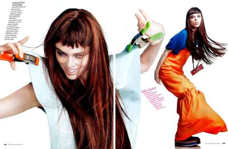 Jumper Cable Couture - Coco Rocha is All Energy for Alexei Hay in Elle Italia January 2011