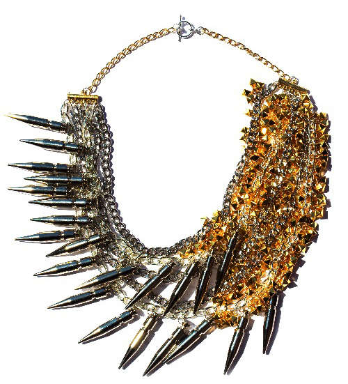 Golden Spiked Jewelry