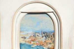 Jim Darling Paints Landscape Views of Aircraft Windows