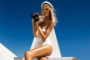 Anja Rubik Giuseppe Zanotti Spring 2011 Ads Show All-White Fashio