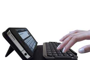TypeTop Bluetooth Mini Keyboard for Tactile Typing on the iPhone 4