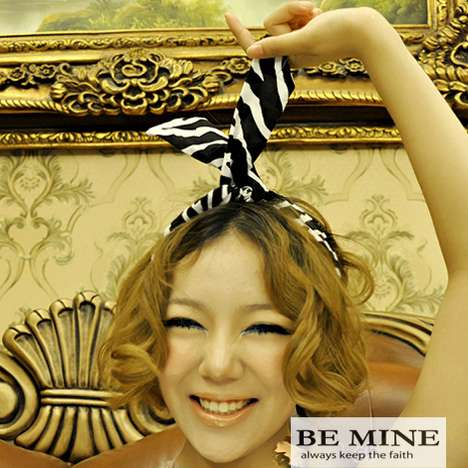 Rabbit Ear Headwear - Be Mine Hair Wraps Offer a Modern Take on a Vintage Accessory