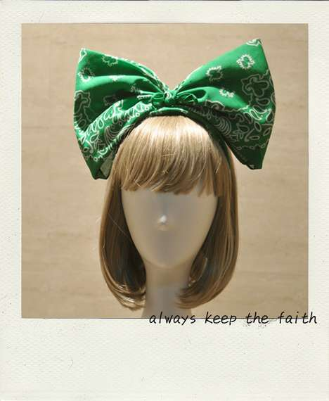Gigantic Little-Girl Bows - The Be Mine Sweet Super Bow is an Innocence-Adding Accessory