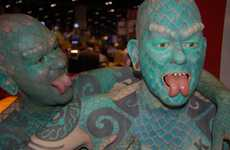 Immortalized Body-Mod Icons - Ripley's Builds an Army of Lizard Men Modeled After Erik Sprague