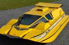 Futuristic Hovercraft Cars