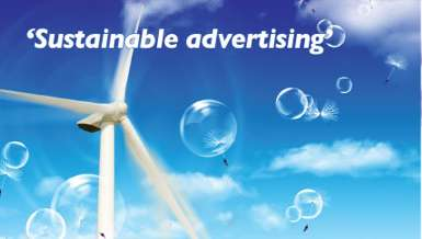 solar powered outdoor banners advertisment