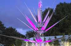 Solar Flower Towers - 'London Urban Oasis' Showcases the Beauty of Green Technology
