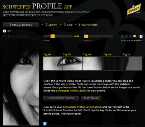 Personalized Social Media Profiles - The Schweppes Facebook Application Makes Customization Easy