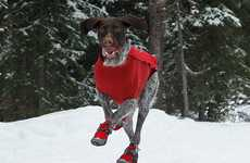 Canine Snow Shoes - Bark'n Boots Keeps Your Dog's Paws Toasty Warm in the Chilly Winter Weather