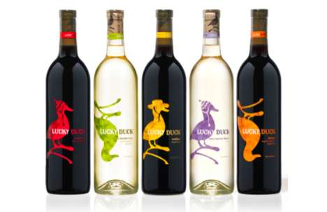 lucky duck wine labels