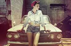 Retro Pin-Up Photography - Maelle Andre Focuses on Vintage-Esque Portraits