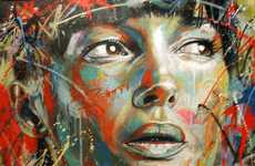 Spray Painted Potraits - David Walker Creates Graffiti Pieces of Complete Strangers