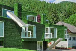An Austrian Concrete House Celebrates Cubism in a Green Way
