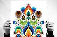 Trippy Geometric Inkblots