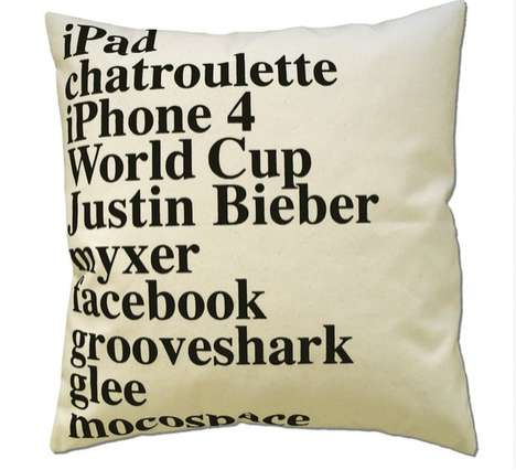 Google 2010 Pillow