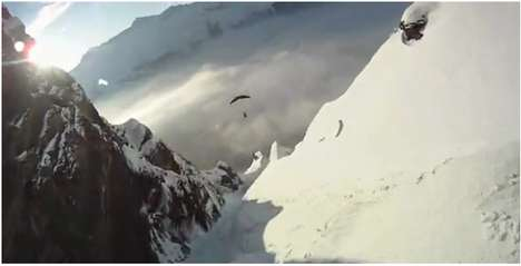 Supercharged Snow Sports - Speedflying Combines Skiing and Parachuting in Death-Defying Video