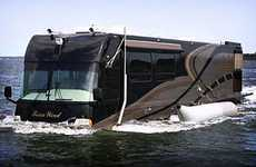 Floating Motor Homes - The TerraWind is a Sea-Dwelling Recreational Vehicle