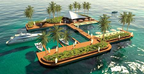 Luxurious Floating Playgrounds - Satisfy Your Guilty Pleasures on the 'Floating Pleasure Islands'