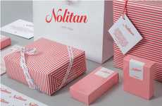 Candy Stripe Packaging - Delectable Red and White Nolitan Hotel Branding by Marque Creative