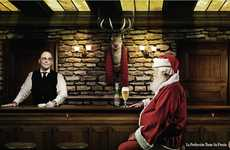 Santa and Rudolph Go Head to Head in the Stella Artois Advertisement