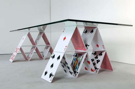 Playing Card Furniture - This House of Cards Table Will Deck You Out