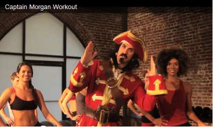 captain morgan workout commercial