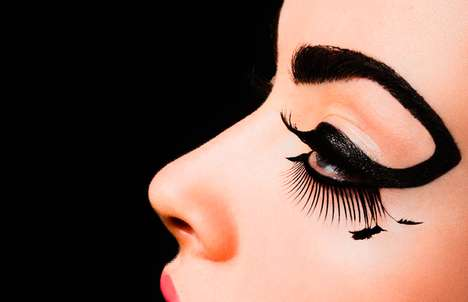 Dramatic Eyeliner Artwork - The Carsten Witte Eyeliner Photo Series is Artistically Inspirational