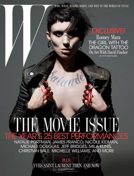 In-Character Covers - The Rooney Mara W Magazine Editorial Channels Lisbeth Salander