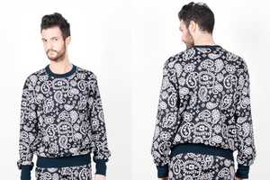 This 'Printed Sweatshirt' by Christopher Shannon is Dizzying