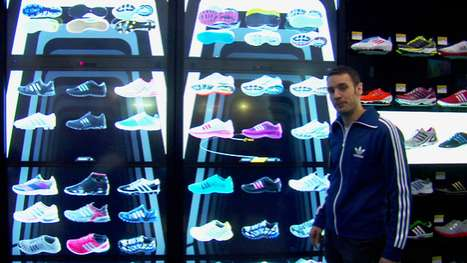 adiVerse Virtual Footwear Wall