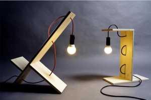 William Raffredi Designs Bare-Bones Lamps and Shelves
