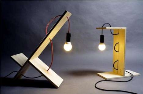 Stripped-Down Furniture Designs - William Raffredi Designs Bare-Bones Lamps and Shelves